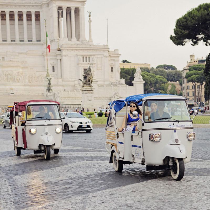 Ape calessino tour in Rome